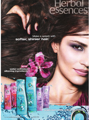 Leighton Meester for Herbal Essences celebrity beauty products