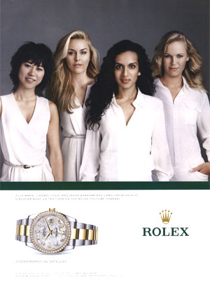 Lindsey Vonn Rolex celebrity endorsement ads