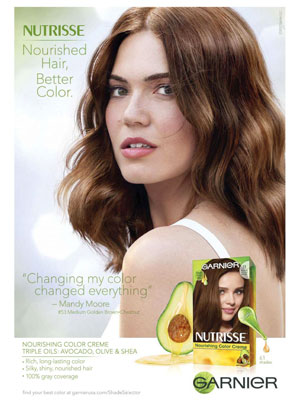 Mandy Moore Garnier Celebrity Ads