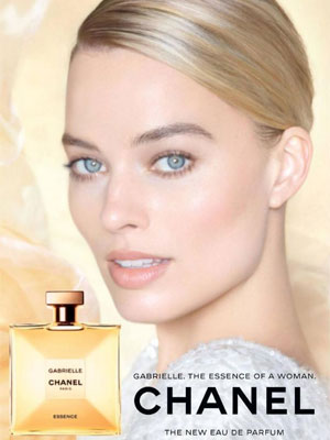 Margot Robbie Chanel Celebrity Perfume Ads