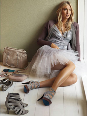 Maria Sharapova for Cole Haan Spring fashions celebrity endorsements
