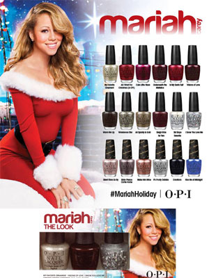 Mariah Carey Holiday OPI Collection celebrity fashion
