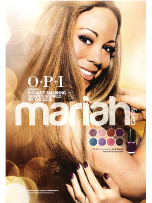 Mariah Carey OPI celebrity endorsements