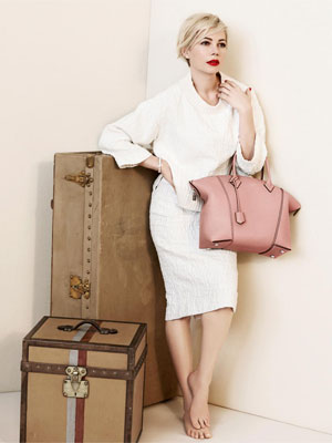 Michelle Williams Louis Vuitton celebrity fashion ads