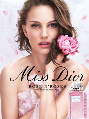 Natalie Portman Miss Dior Rose N' Roses Celebrity Fragrance Ads