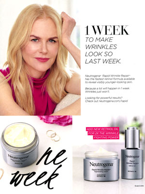 Nicole Kidman Neutrogena Celebrity Ads