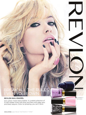Olivia Wilde Revlon celebrity endorsement ads