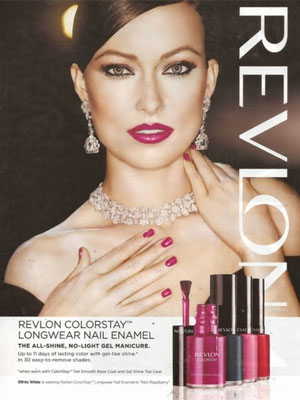 Olivia Wilde celebrity beauty ads