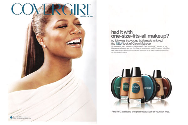 Queen Latifah CoverGirl makeup