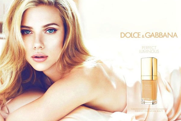 Scarlett Johansson Dolce and Gabbana cosmetics celebrity endorsements