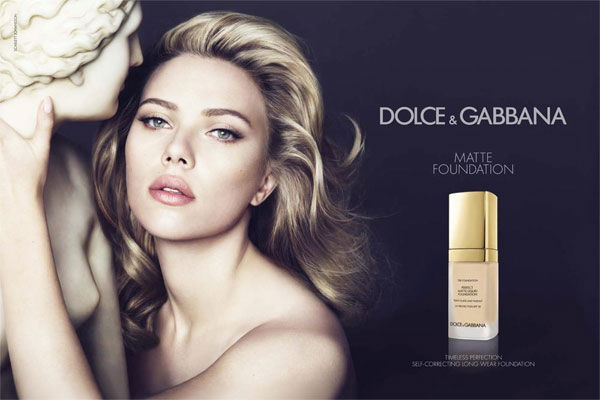 Scarlett Johansson Dolce & Gabbana makeup celebrity endorsement ads