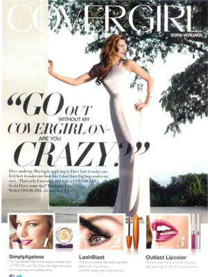 Sofia Vergara CoverGirl makeup celebrity endorsement ads
