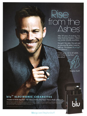 Stephen Dorff Blu Cigs celebrity endorsement adverts
