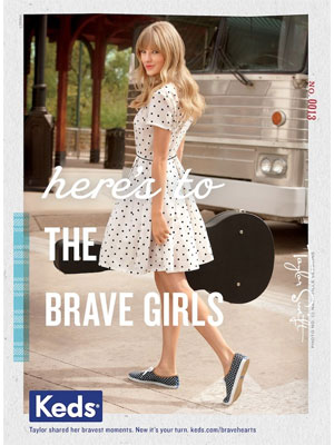 Taylor Swift Keds celebrity endorsement ads