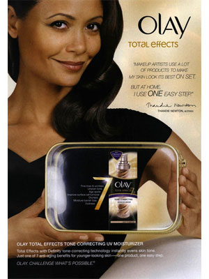 Thandie Newton Olay celebrity endorsements