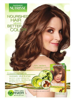 Tina Fey Garnier celebrity ad endorsements