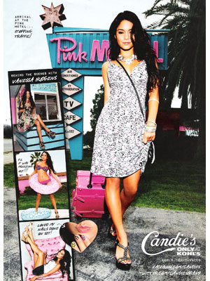 Vanessa Hudgens for Candie's clothing celebrity fashion endorsements