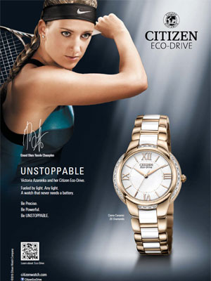 Victoria Azarenka Citizen celebrity endorsement ads