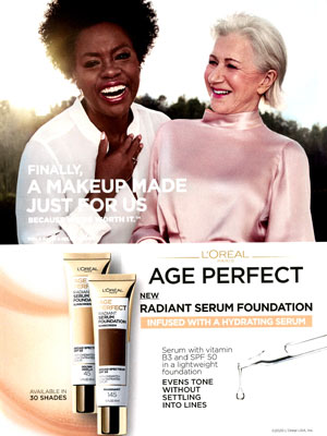 Viola Davis and Helen Mirren L'Oreal celebrity ads