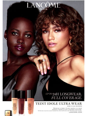 Zendaya and Lupita Nyong'o Lancome Celebrity Endorsements