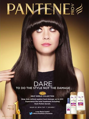 Zooey Deschanel Pantene celebrity endorsement ads