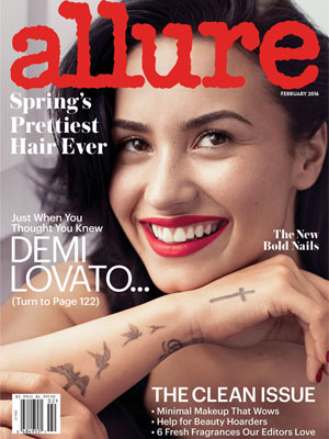Demi Lovato cover model Allure February 2016