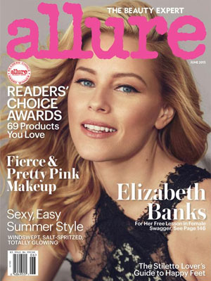 Elizabeth Banks Allure Magazine June 2015