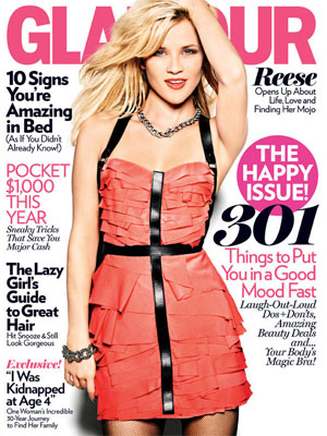 Reese Witherspoon Glamour, January 2011