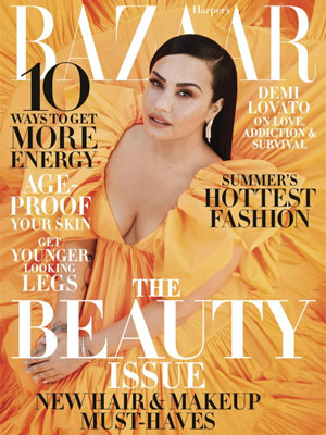 Demi Lovato cover model Harper's Bazaar May 2020